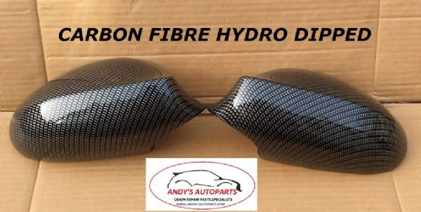 BMW 1 SERIES 04-09  PAIR OF WING MIRROR COVERS HYDRO DIPPED IN CARBON FIBRE